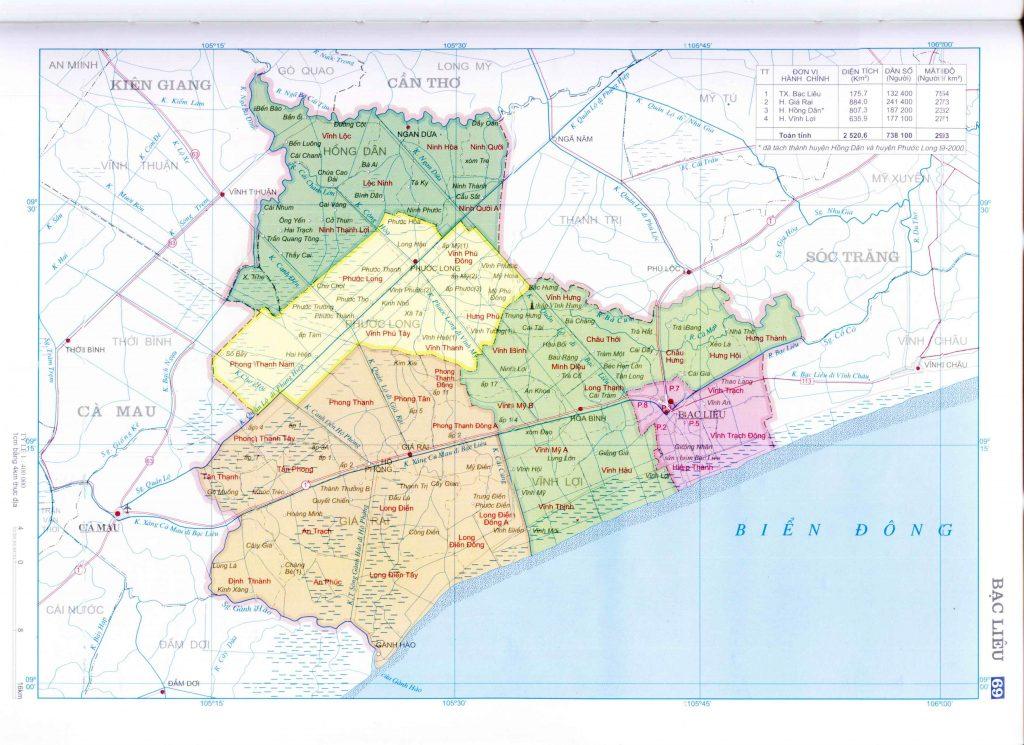 Bản đồ tỉnh Bắc Giang