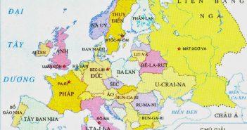Bản đồ các nước châu Âu