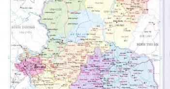 Bản đồ hành chính tỉnh Đồng Nai