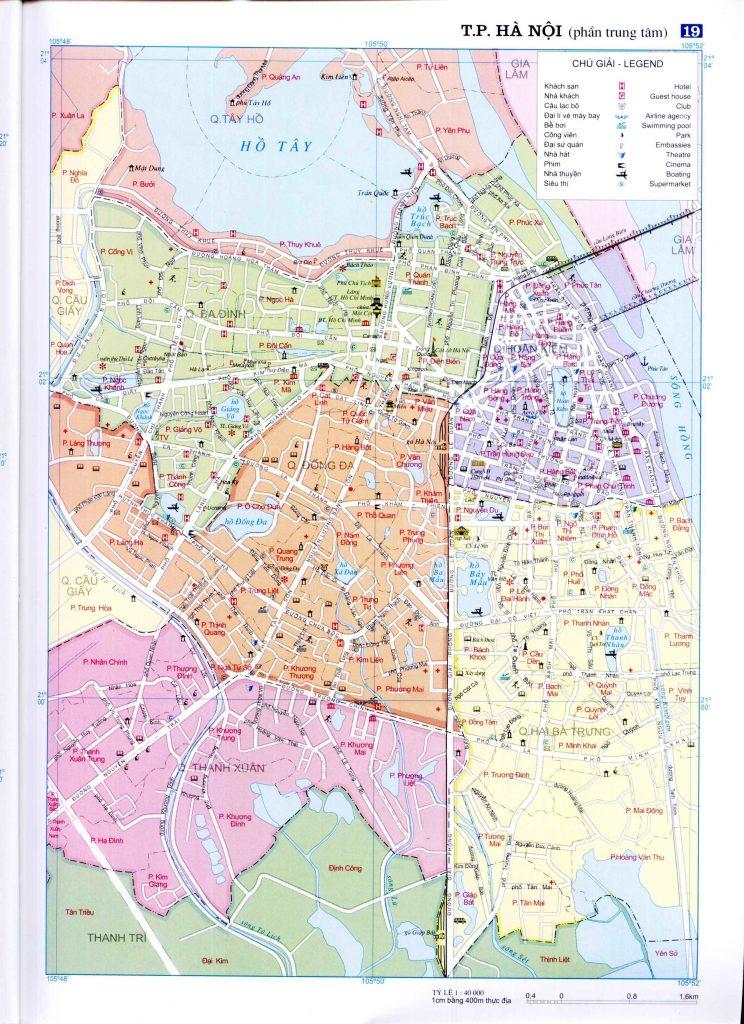 Bản đồ hành chính thành phố Hà Nội