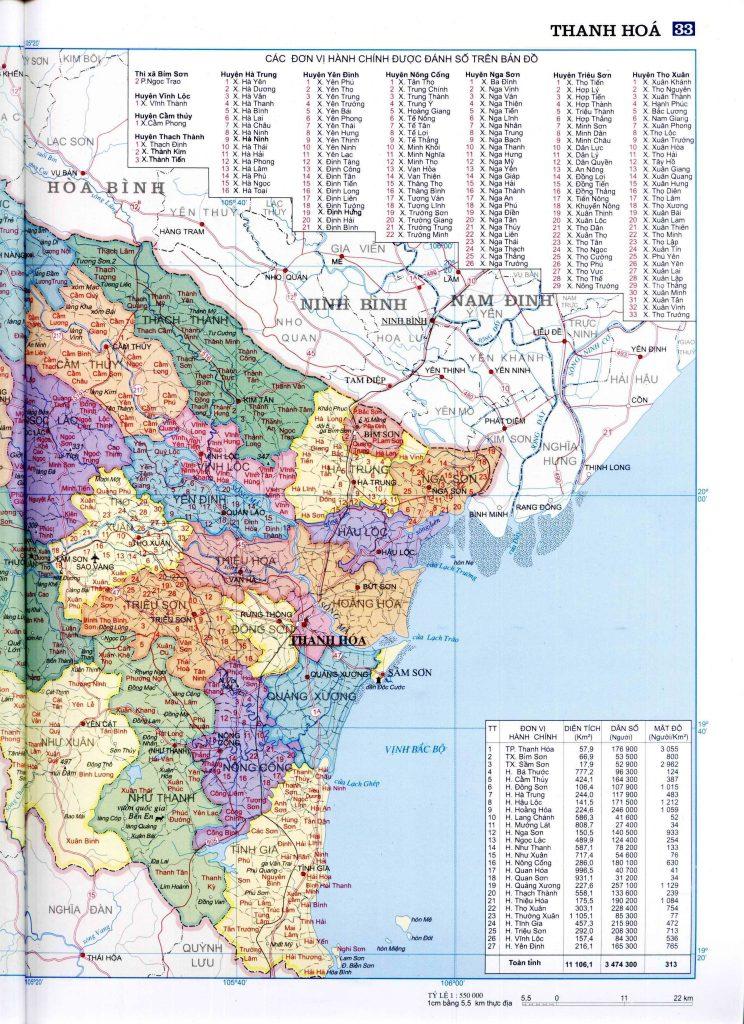 Bản đồ hành chính tỉnh Thanh Hóa 2