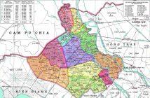 Bản đồ An Giang theo địa phận hành chính, giao thông