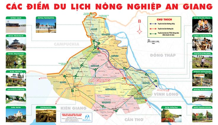 Bản đồ điểm du lịch Nông Nghiệp An Giang