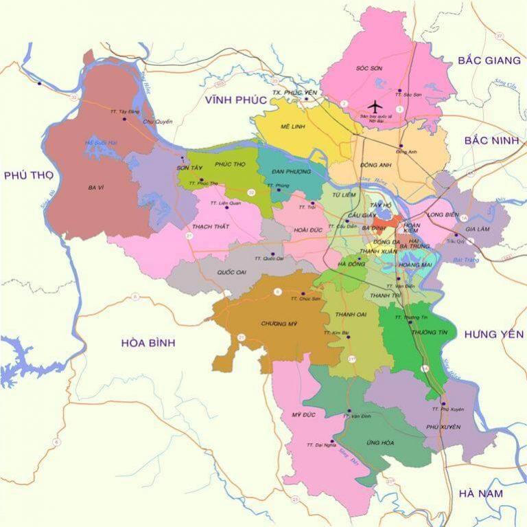 Bản đồ giao thông Hà Nội mới nhất năm 2018