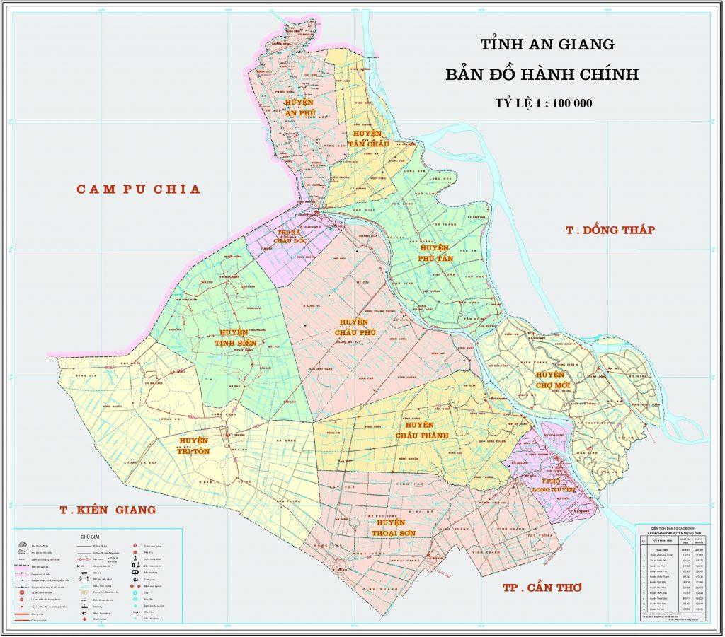 Vị trí địa lý của tỉnh An Giang