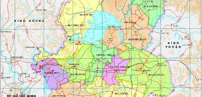Vị trí địa lý tỉnh Đồng Nai