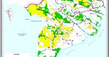 Bản đồ phân bố đất phèn vùng đồng bằng sông cửu long