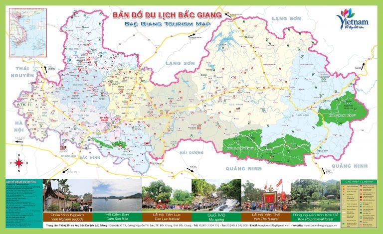 Bản đồ du lịch tỉnh Bắc Giang