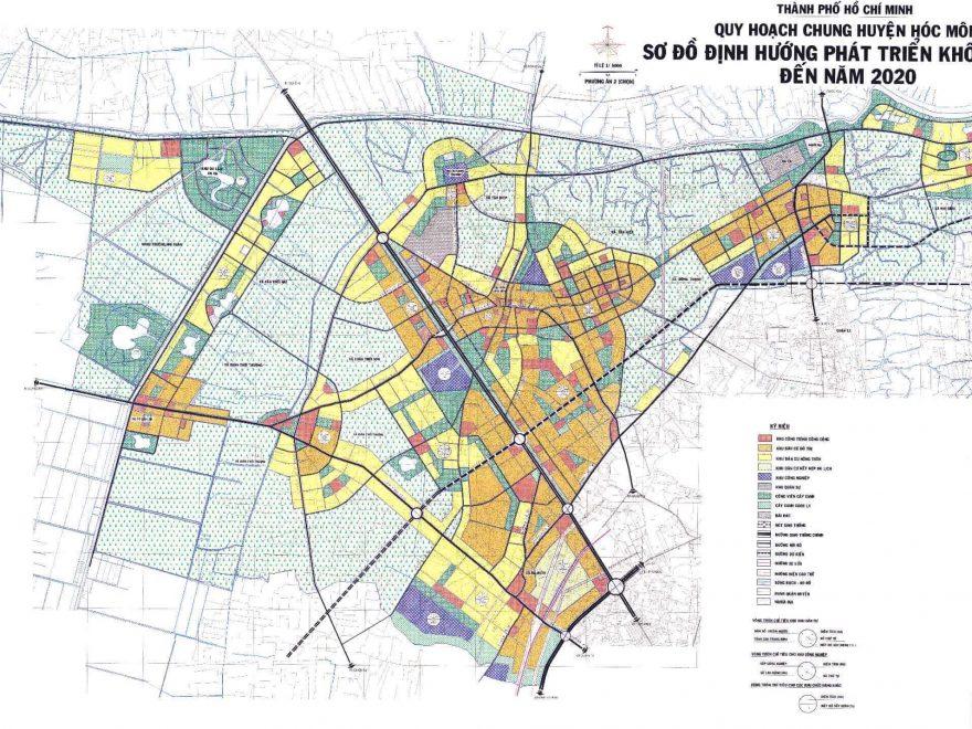 Thông Tin Trên Bản Đồ Quy Hoạch Đến Năm 2020 Huyện Hóc Môn TP Hồ Chí Minh