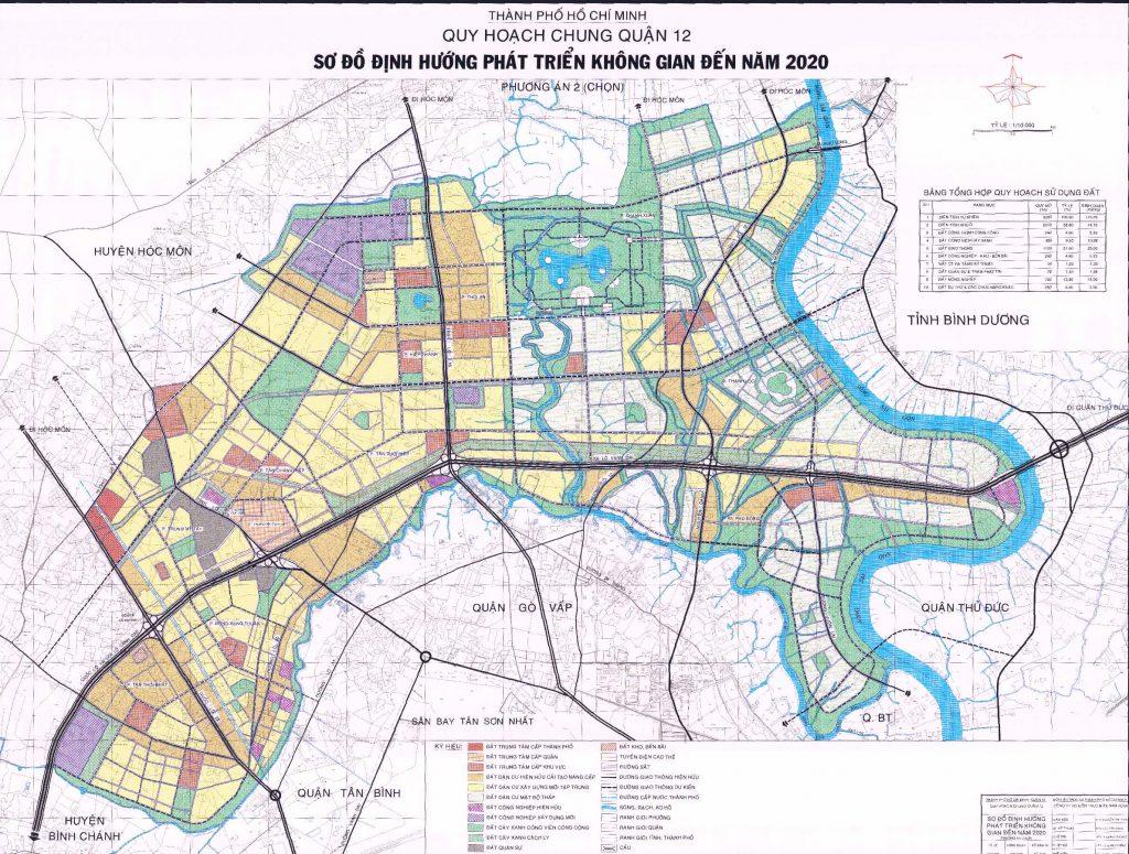 Bản đồ quy hoạch không gian quận 12