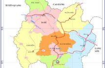 Bản đồ hành chính tỉnh Bắc Kạn