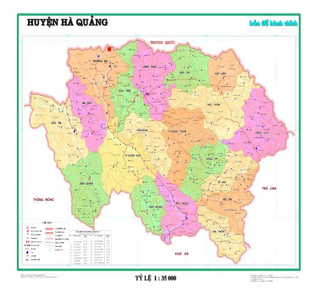 Bản đồ hành chính huyện Hà Quảng tỉnh Cao Bằng