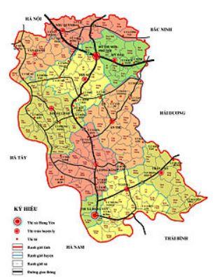 Bản đồ hành chính thành phố Hưng Yên, tỉnh Hưng Yên
