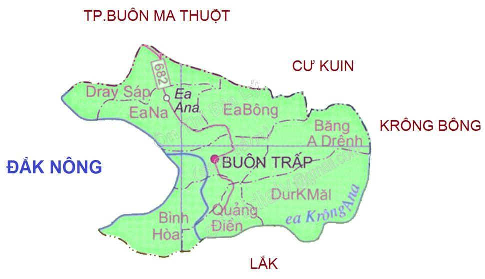 Bản đồ hành chính huyệnKrông Ana