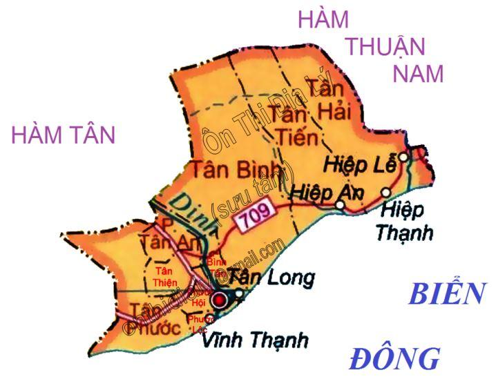 Bản đồ hành chính thị xã La Gi, tỉnh Bình Thuận