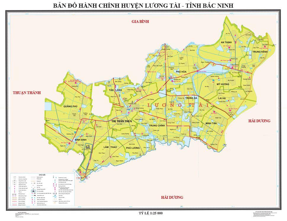 Bản đồ hành chính huyện Lương Tài tỉnh Bắc Ninh