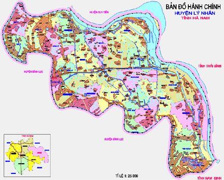 Bản đồ hành chính huyện Lý Nhân, tỉnh Hà Nam