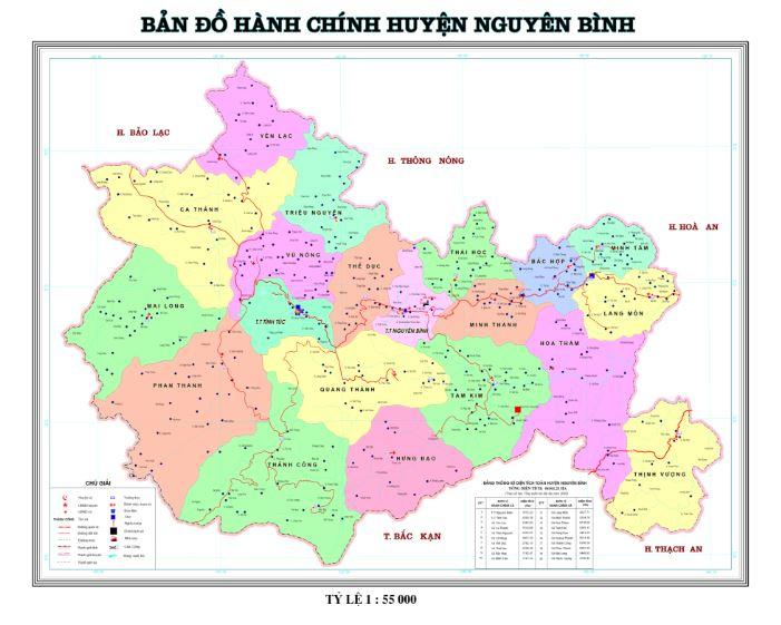 Bản đồ hành chính huyện Nguyên Bình tỉnh Cao Bằng