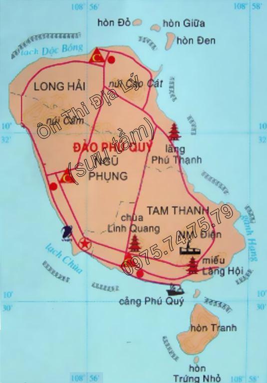 Bản đồ hành chính huyện Phú Quý