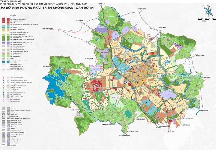 Thông tin quy hoạch chung TP Thái Nguyên, tỉnh Thái Nguyên đến năm 2035