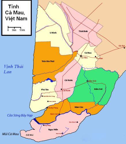 Bản đồ quy hoạch sử dụng đất của tỉnh Cà Mau đến năm 2020
