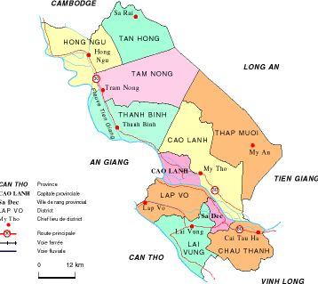 Thông tin về quy hoạch sử dụng đất tỉnh Đồng Tháp đến 2020
