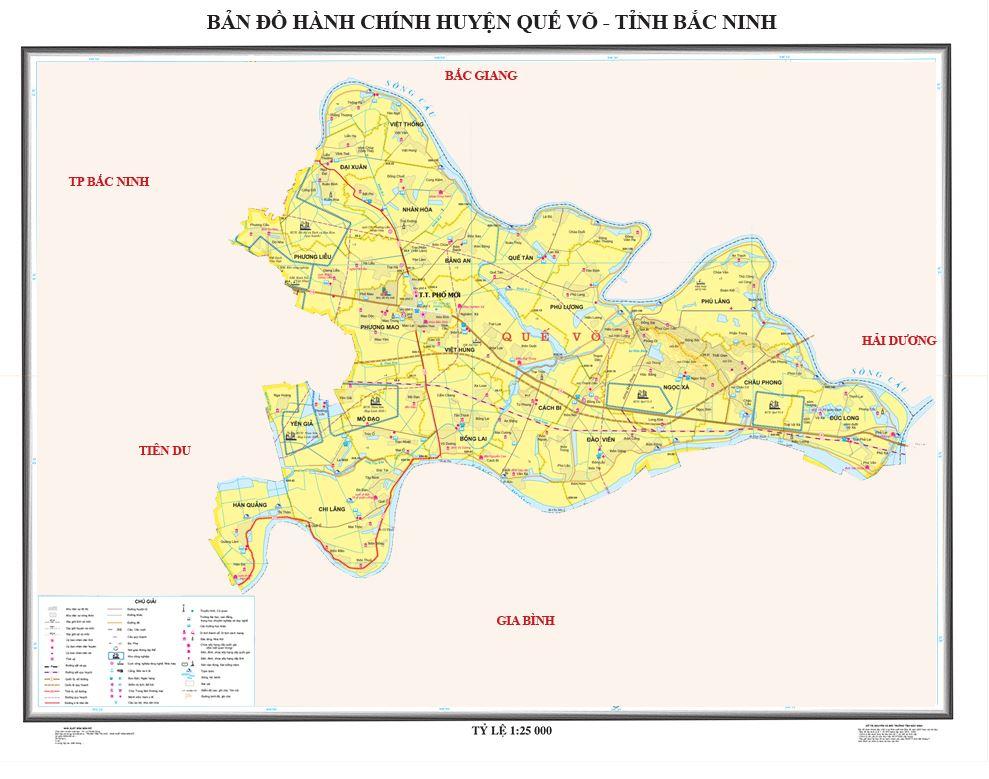Bản đồ hành chính huyện Quế Võ tỉnh Bắc Ninh