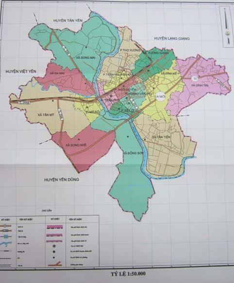 Bản đồ hành chính thành phố Bắc Giang tỉnh Bắc Giang