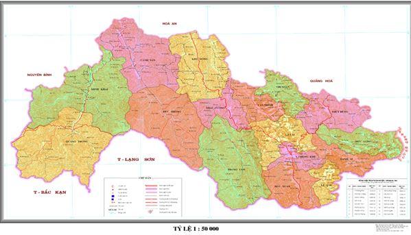 Bản đồ hành chính huyện Thạch An