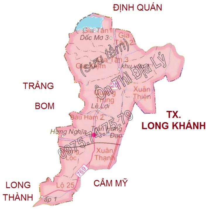 Bản đồ hành chính huyện Thống Nhất tỉnh Đồng Nai