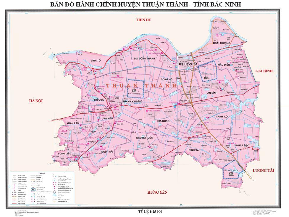 Bản đồ hành chính huyện Thuận Thành tỉnh Bắc Ninh