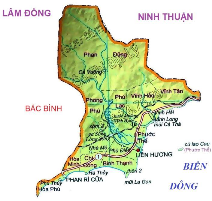 Bản đồ hành chính huyện Tuy Phong