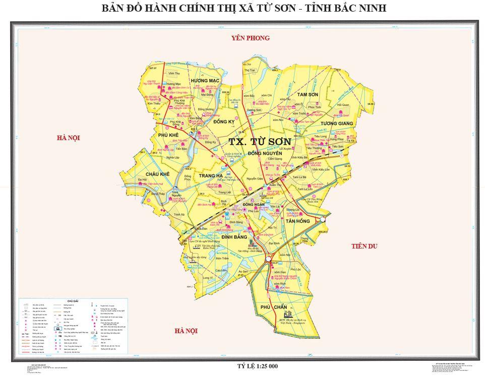 Bản đồ hành chính Thị xã Từ Sơn