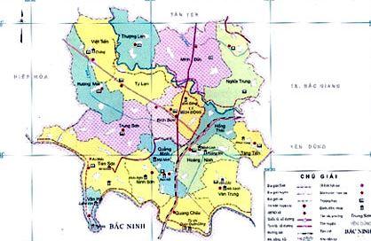 Bản đồ hành chính huyện Việt Yên tỉnh Bắc Giang