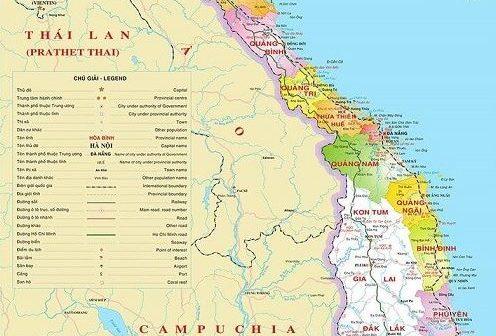 Vị trí địa lý miền Trung qua bản đồ Việt Nam