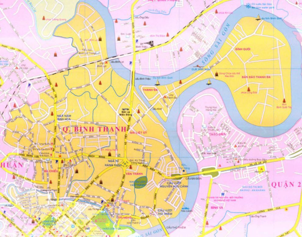 Bản đồ hành chính quận Bình Thạnh