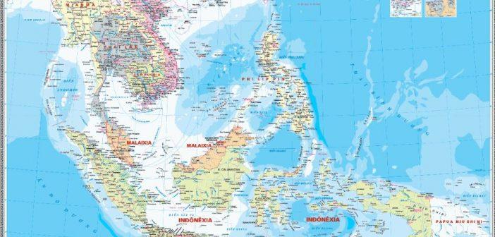 Bản đồ các nước trong khu vực Đông Nam Á
