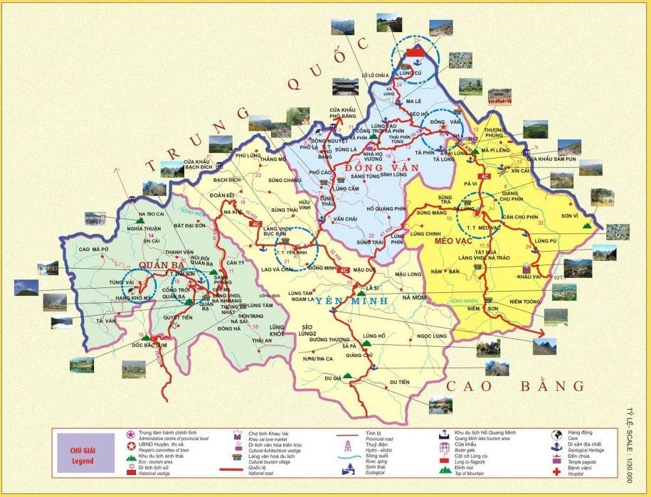 Bản đồ du lịch tỉnh Hà Giang