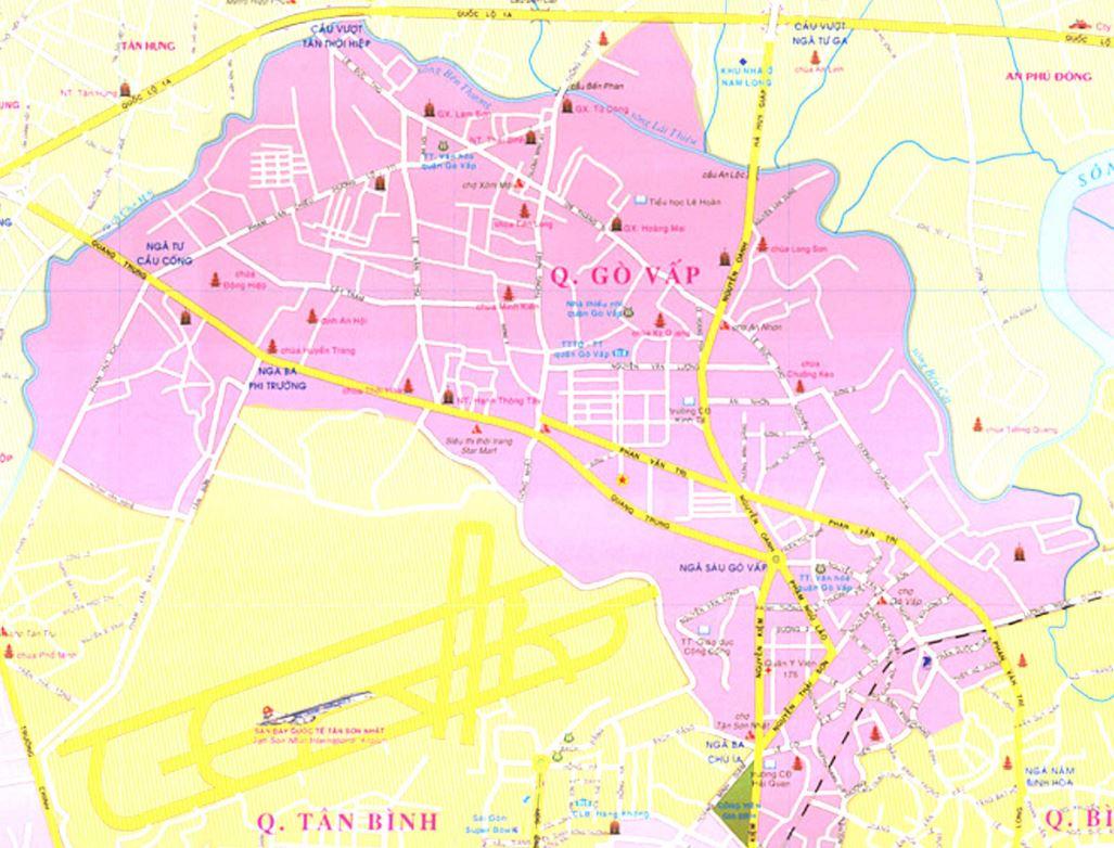 Bản đồ hành chính quận Gò Vấp thành phố Hồ Chí Minh