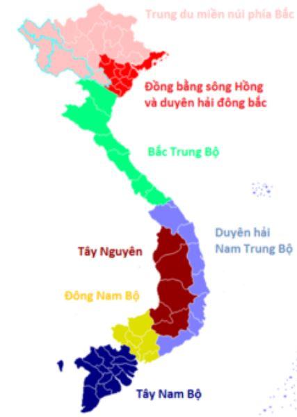 Bản đồ phân vùng miền Trung