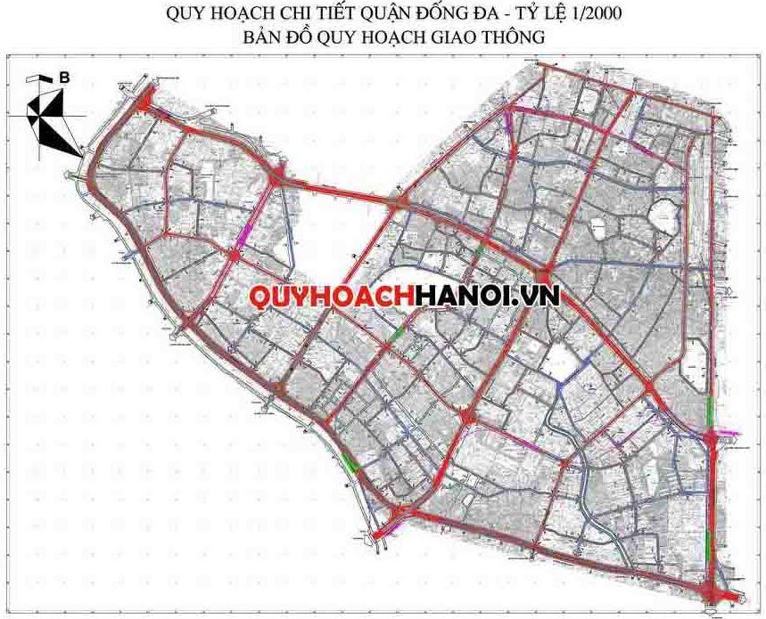 Bản đồ quy hoạch quận Đống Đa Hà Nội