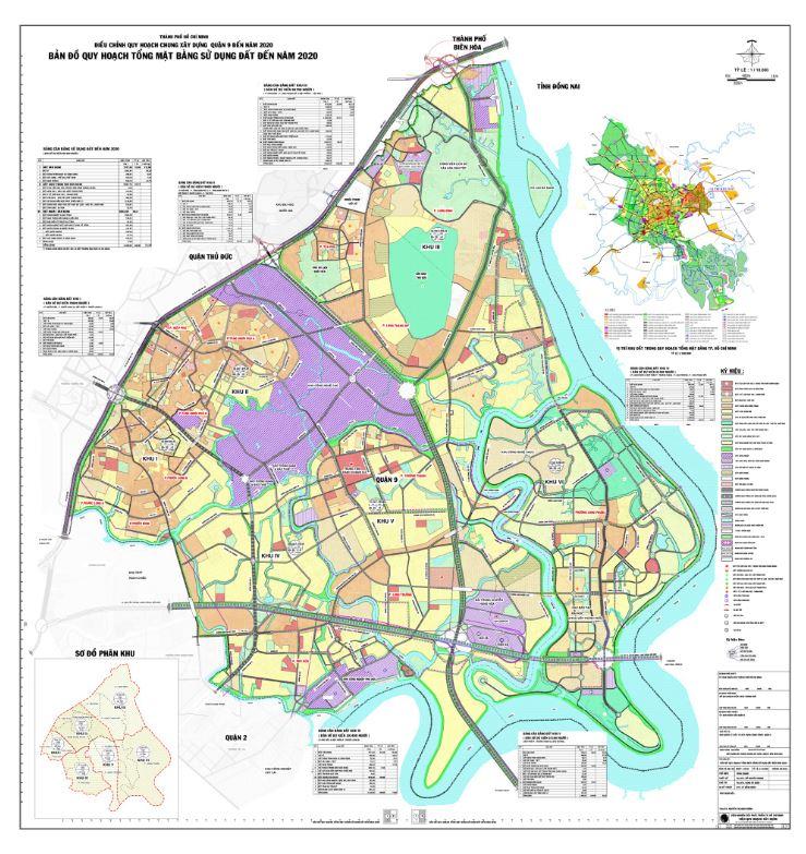 Bản đồ quy hoạch tổng mặt bằng sử dụng đất đến năm 2020