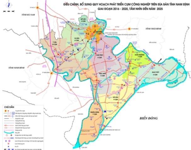 Bản đồ quy hoạch thành phố Nam Điịnh