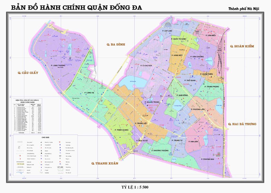 Bản đồ hành chính quận Đống Đa Hà Nội