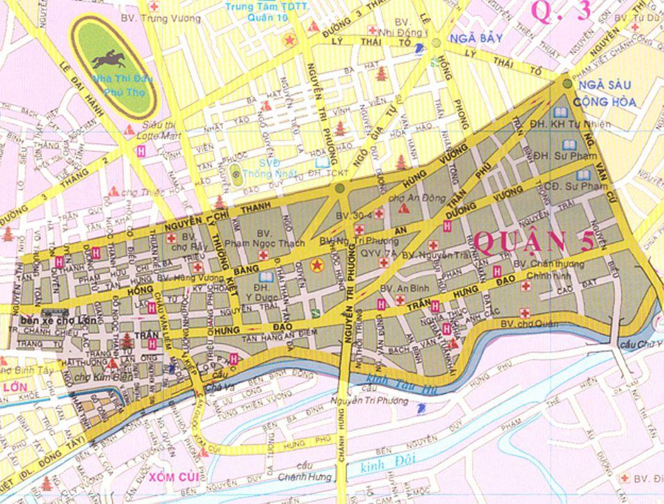 BẢn đồ hành chính quận 5 thành phố Hồ Chí Minh
