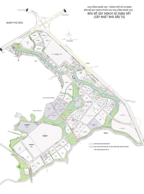 Bản đồ quy hoạch phân khu khu công nghệ cao