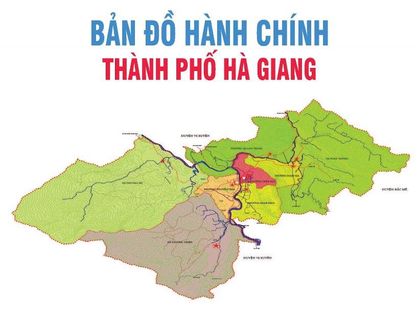 Bản đồ thành phố Hà Giang tỉnh Hà Giang, Việt Nam