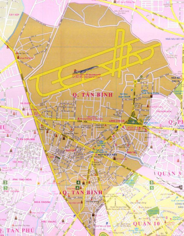 Bản đồ hành chính quận Tân Bình thành phố Hồ Chí Minh