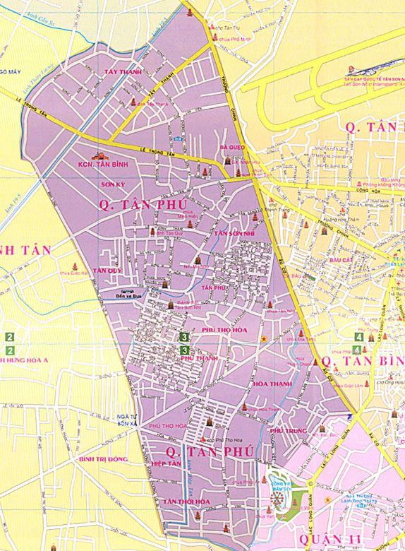 Bản đồ hành chính quận Tân Phú thành phố Hồ Chí Minh