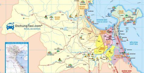 Bản đồ du lịch Đà Nẵng – Tìm hiểu về các địa điểm nổi tiếng tại Đà Nẵng